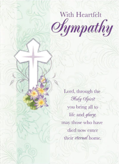 With Heartfelt Sympathy Mass Card