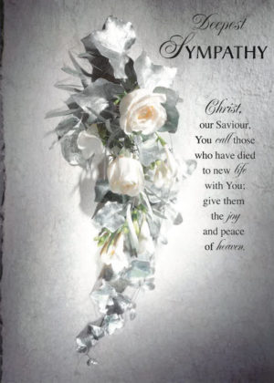 A With Deepest Sympathy Mass Card