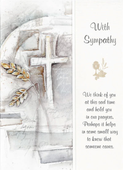 A With Sympathy Mass Card