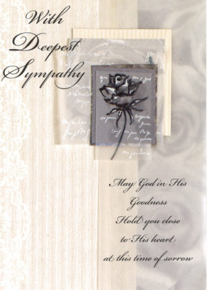 Traditional Sympathy Mass Card.
