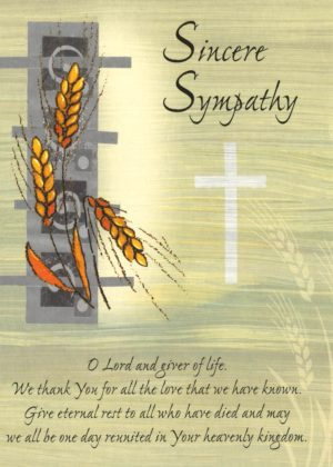 A Sincere Sympathy Mass Card