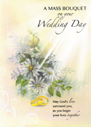 A wedding day card.
