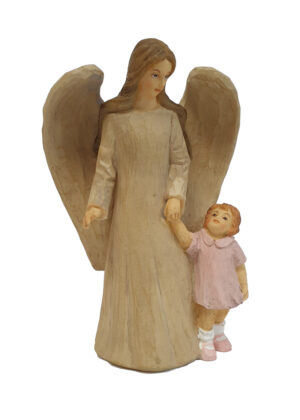 Angel and Girl Statue