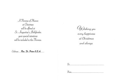 Inside of Christmas Mass Bouquet Card