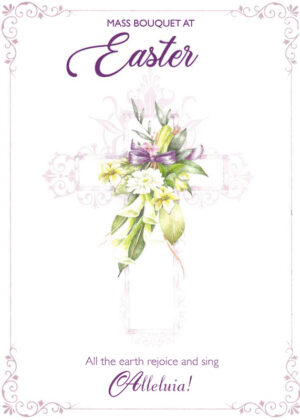 Easter card with flowers.