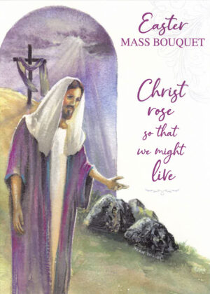 Easter card with Jesus.