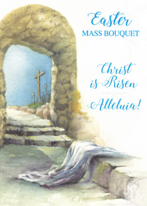 Easter card with cross.