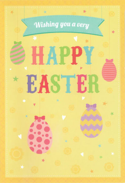 Easter card with text.