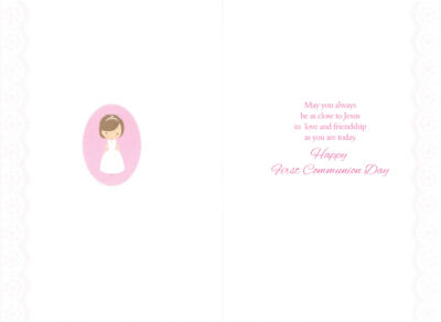 Inside of Holy Communion Card
