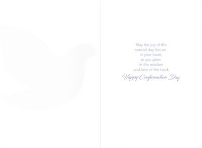 Inside of Confirmation card.