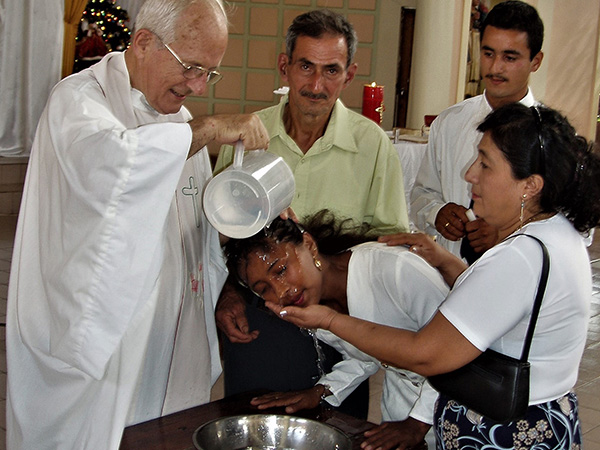 Baptism of a parishioner