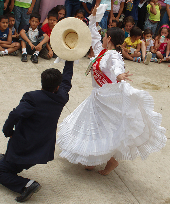 A couple dancing in Ecuador