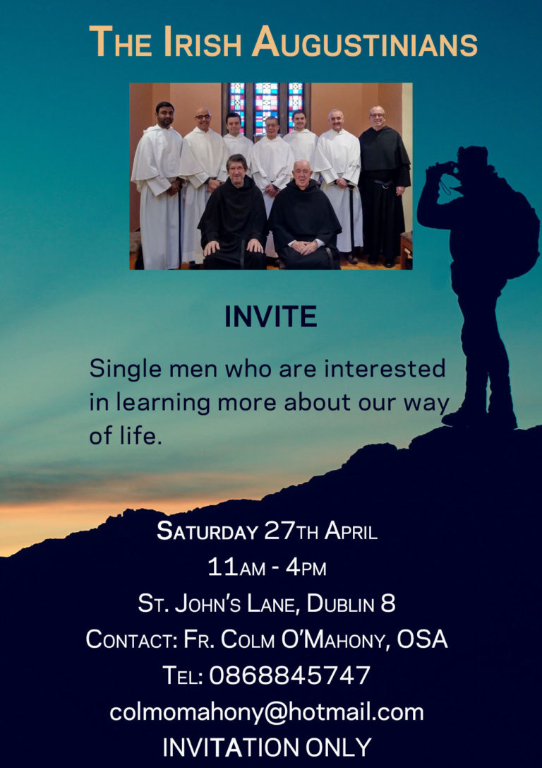 Poster for Augustinian come and see day