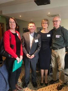 Four people at the Augustinian safeguarding network day