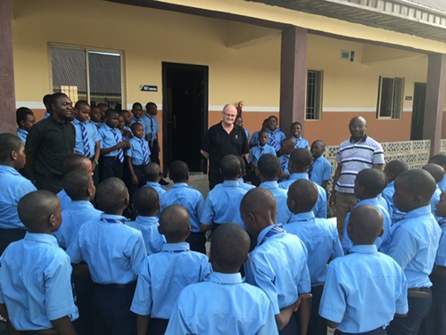 Children and teachers at an Augustinian School in Nigeria