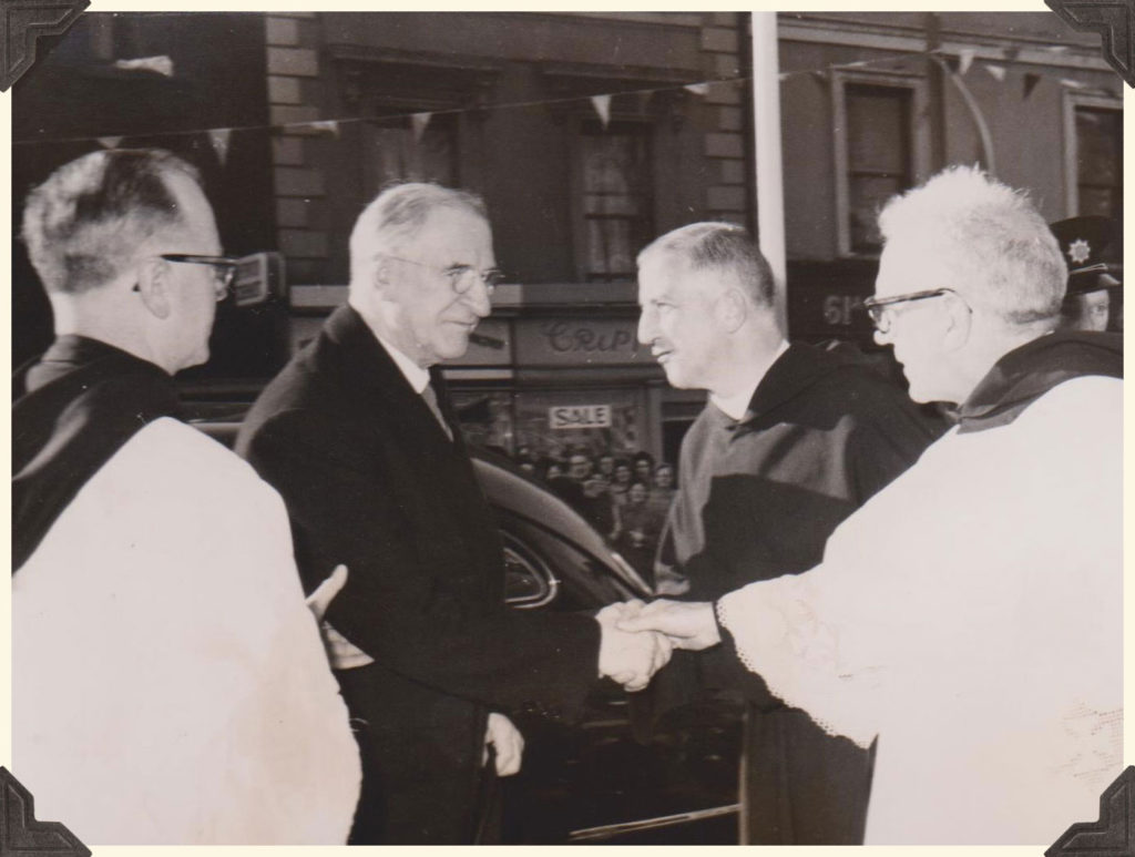 Eamon de Valera visiting Saint John's Lane Church, Dublin
