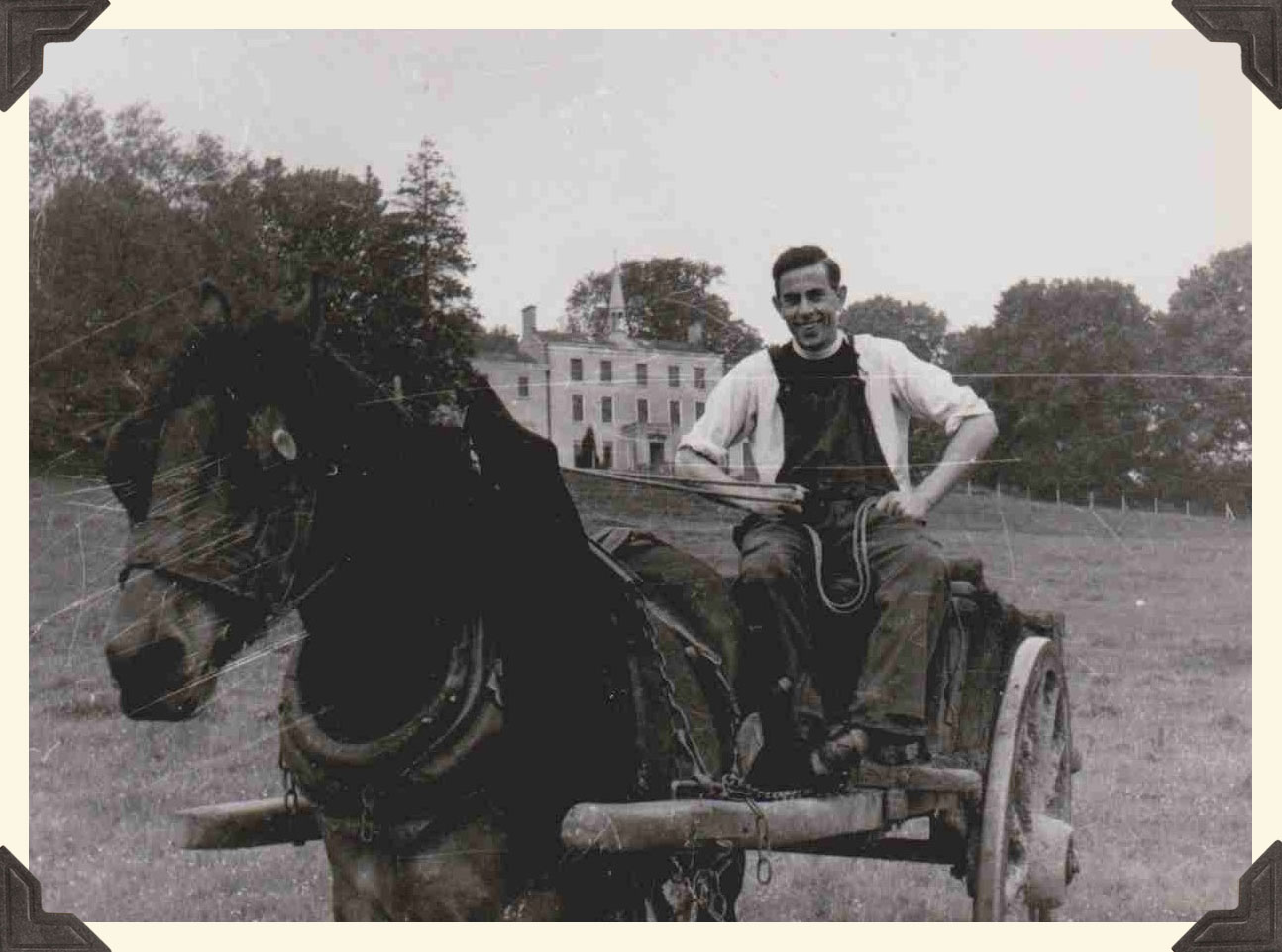 An Augustinian with a Horse and cart.