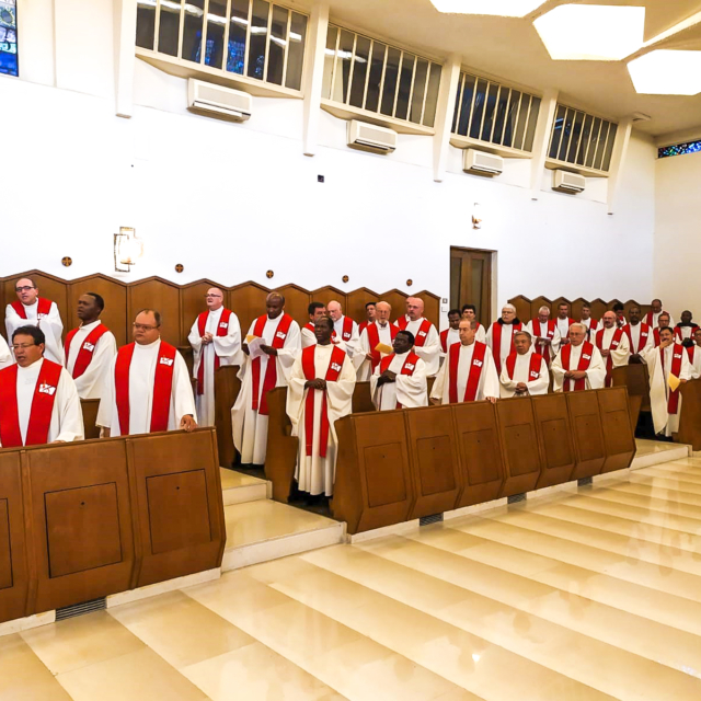 A number of Augustinians celebrating mass together at the General Chapter in Rome..