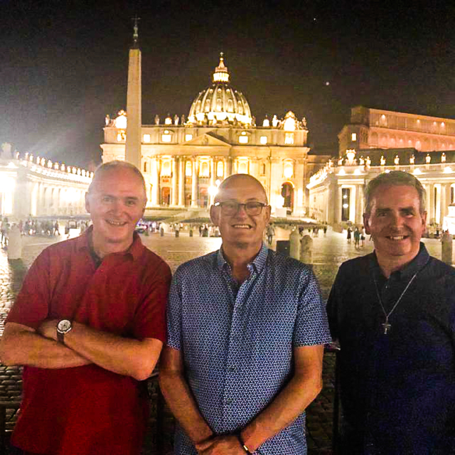 Three Augustinians outside St Peter's