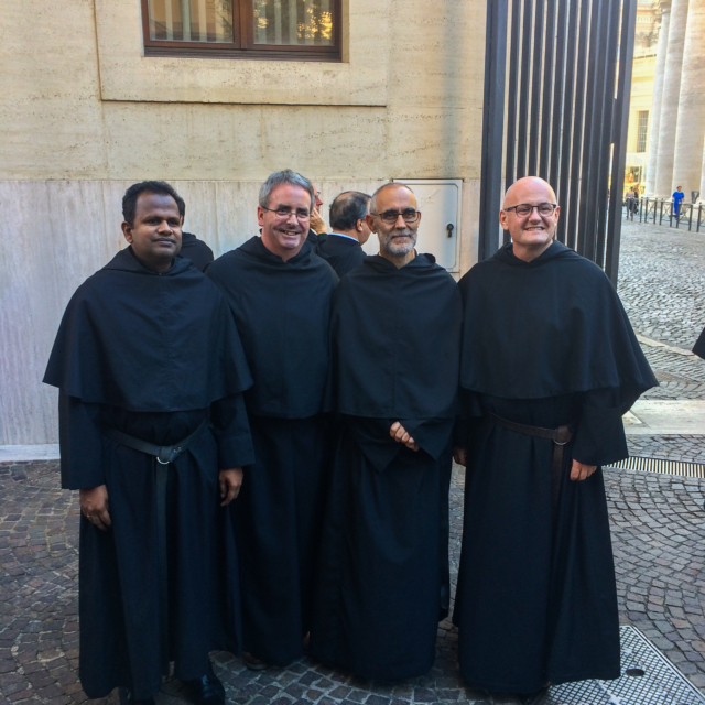 Irish and Indian Augustinians pictured together in Rome.