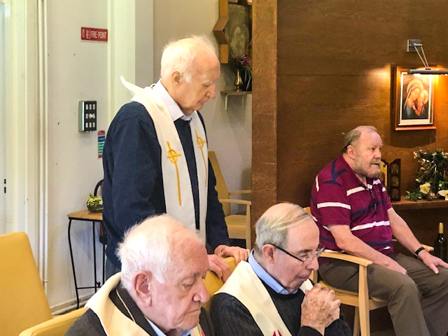 Four Augustinians pictured during mass.