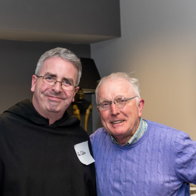 Two Augustinians at an event for Lay Augustinians.