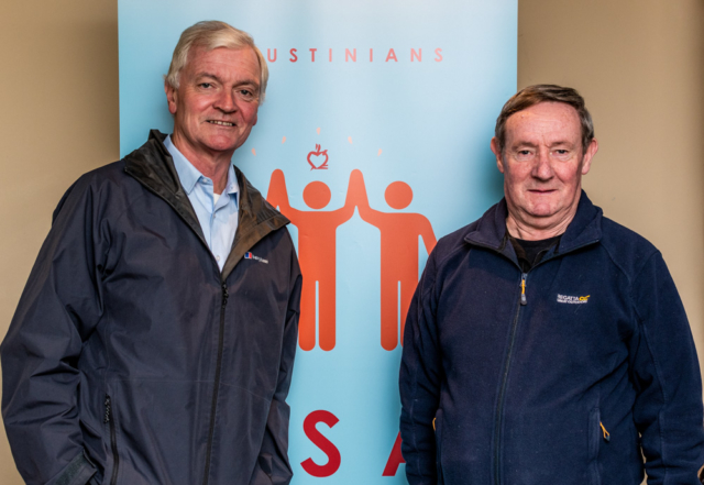 Two Augustinian priests at the Augustinian Lay Forum Meeting, Limerick.