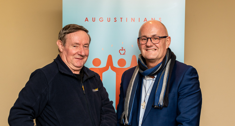 An Augustinian and the Irish Augustinian Provincial at the Augustinian Lay Forum Meeting, Limerick.