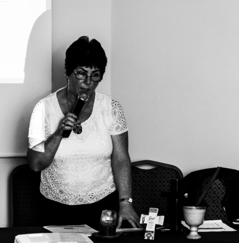 The Chair of the Lay Augustinian Forum addressing the Augustinian Lay Forum Meeting, Limerick.