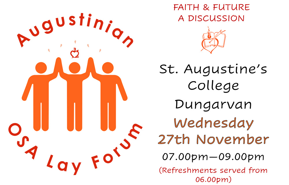Augustinian Lay Forum Poster for Meeting in Dungarvan
