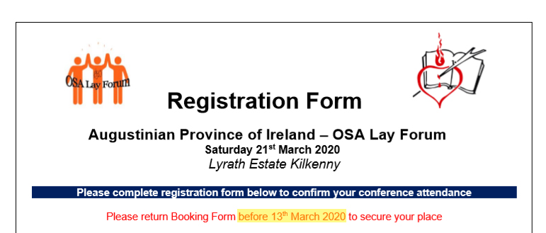 Synod Registration Form