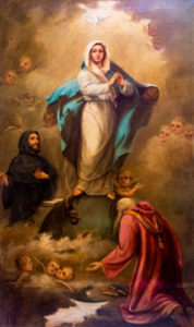 Our Lady and Saint Augustine.