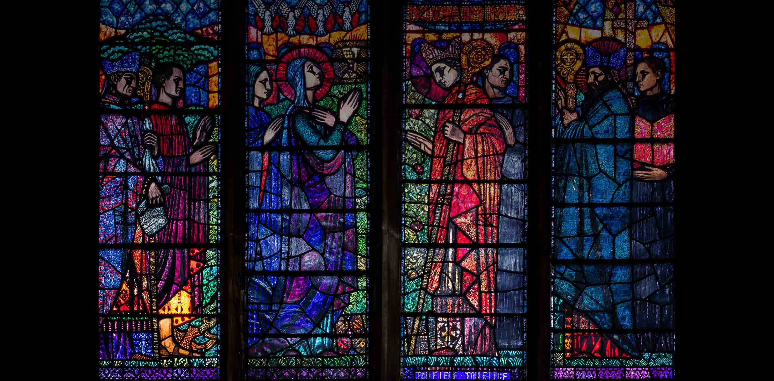 Stained glass window by Michael Healy, Augustinian Church, Dublin.