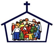 A Church filled with people.