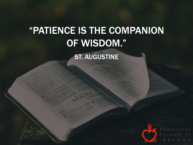 St. Augustine quote on patience.