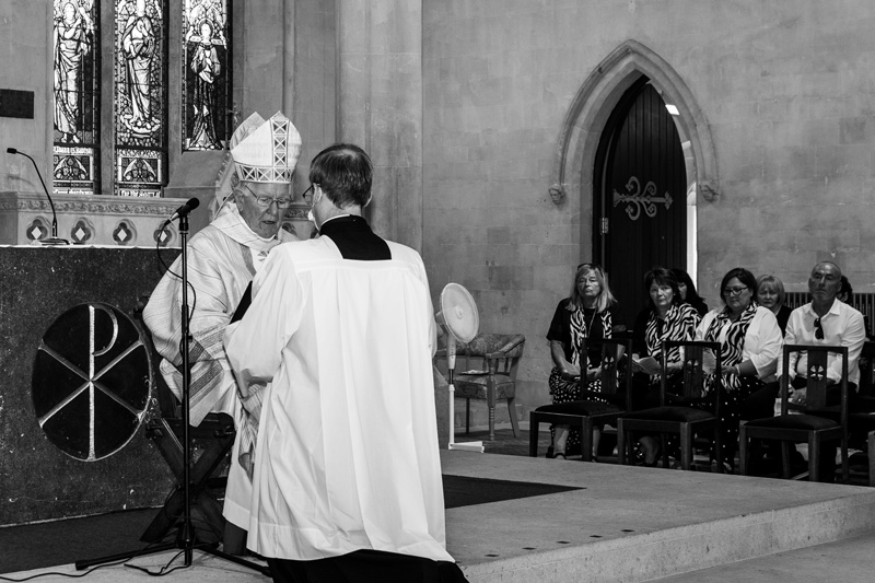 The Bishop at Stephen's Diaconate Ordination.