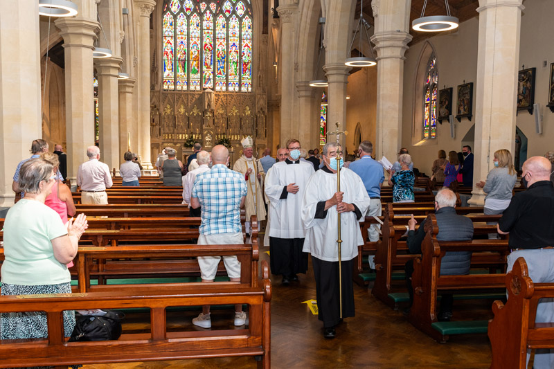 People processing at Stephen's Diaconate Ordination.